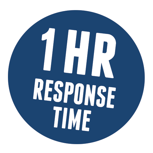 1 hour response time